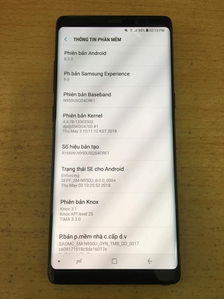 Mở mạng samsung glaxy Note 8 lấy ngay